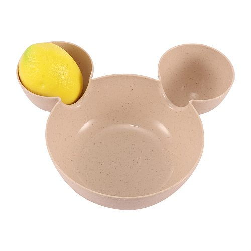 Cartoon Mouse Mickey Bowl Dishes Lunch Box Kid Baby Children Infant Rice Feeding Bowl Plastic Snack Plate Tableware Dinner Plate