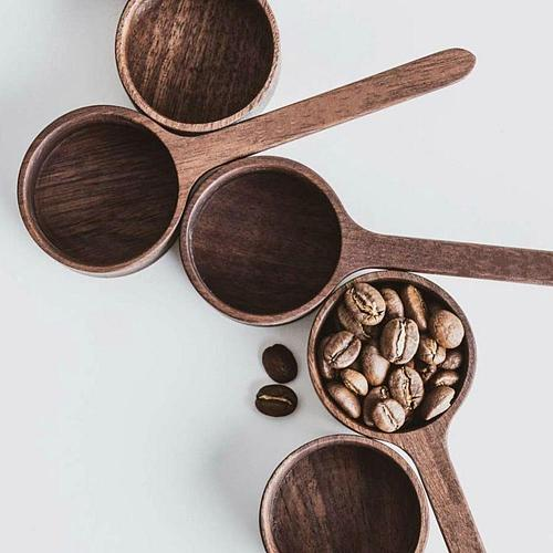 Walnut Wooden Measuring Spoon Scoop Coffee Beans Bar Kitchen Home Baking Tool Measuring Cup Measuring Tools For Kitchen