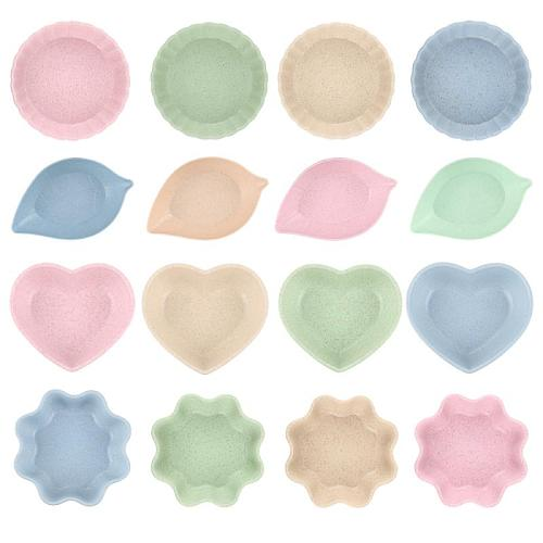 1pc Kitchen Creative Seasoning Bowl Plate Multi-purpose Sauce Plate Round Polygon Square Japanese Style Color Sauce Sauce Dish