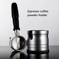 Coffee Accessories 304 Stainless Steel Coffee Tamper Base Kitchen Press Tool Cloth Powder Leveler Tool Powder Hammer