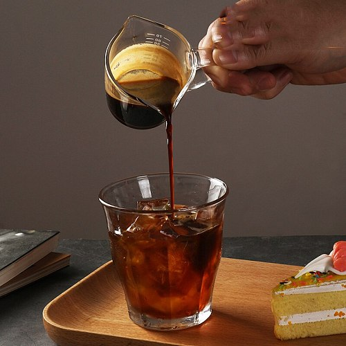 Heat-resistant Glass Twin Spout Pouring Coffee Cream Jug Barista Craft Coffee Latte Milk Frothing Jug Pitcher Home Tools