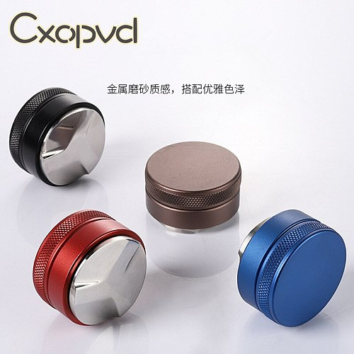 51mm 53mm 58mm 58.35mm Espresso Coffee Tamper Adjustable Coffee Tamper for Barista Flat Stainless Steel Base Coffee Bean Press