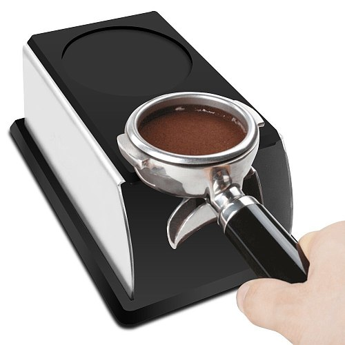 Realand Sturdy Stainless Steel Silicone Espresso Tamper Stand Barista Tool Tamping Holder Rack Shelf Coffee Machine