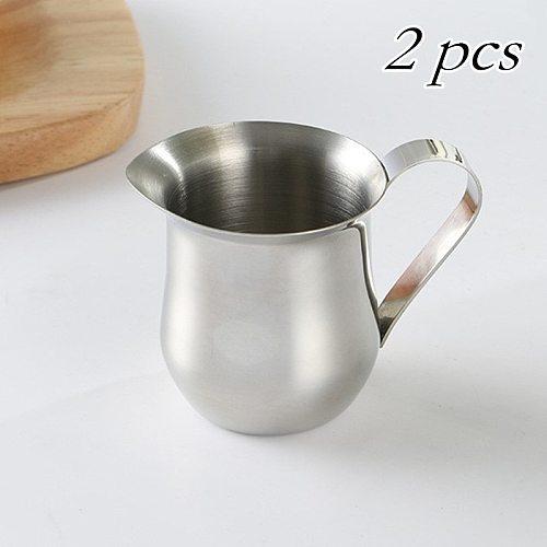 2 pcs 150ml Milk Jugs Coffee Cup Stainless Steel Coffeeware Milk Cup Milkshake Jug Latte Coffee Sets Milk-Craft Frothing Kitchen