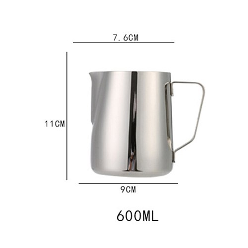Stainless Steel Frothing Coffee Pitcher Pull Flower Cup Espresso Cappuccino Cups Milk Pot Milk Frother Frothing Jug Latte Art