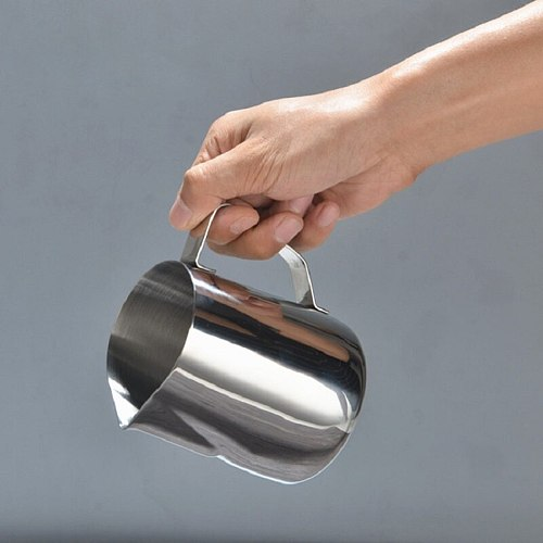 Stainless Steel Frothing Pitcher Pull Flower Cup Milk frothing Jug Espresso Coffee Pitcher Barista Craft Coffee Latte Milk Mugs