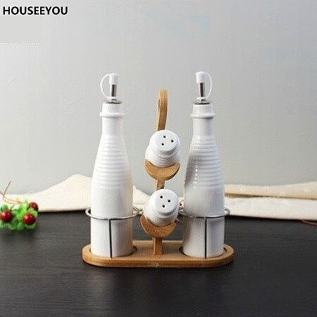 Creative Ceramic Seasoning Container Set Decorative Porcelain Gravy Boats Kitchen Tools Gadgets Dining Table Utensil Accessories