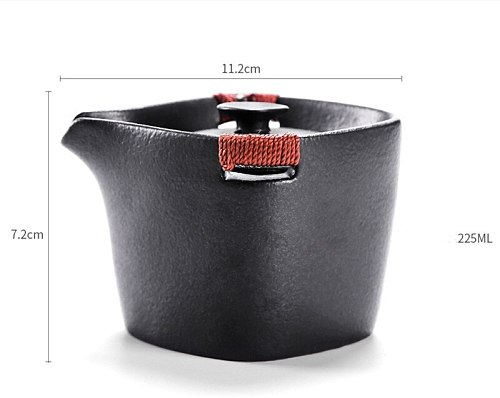 Portable Japanese Gaiwan Fashion Black Tea Sets Ceramic Teapot Kettle Tea Tureen Kung Fu Tea Sets Retro Drinkware