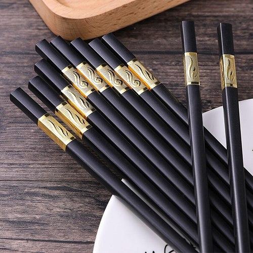 One Pair 27cm High-Quality High-End Portable Chopsticks Reusable Tableware Korean Family Sushi Sticks Non-Slip And Mildew Proof
