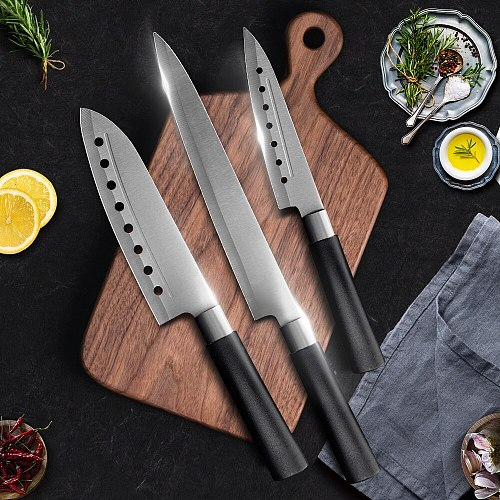 Kitchen Knife 5 7 8 Inch 3CR13 420C High Carbon Stainless Steel Utility Slicing Fruit Vegetable Meat Chef Knives Tool Cook Set