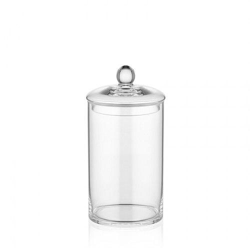 The Mia Glass Jar With Lid 12 x 25 Cm