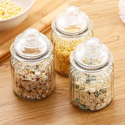 Sealed dry jar of candy box tea box storage tank glass candy jar spice jar kitchen accessories food container