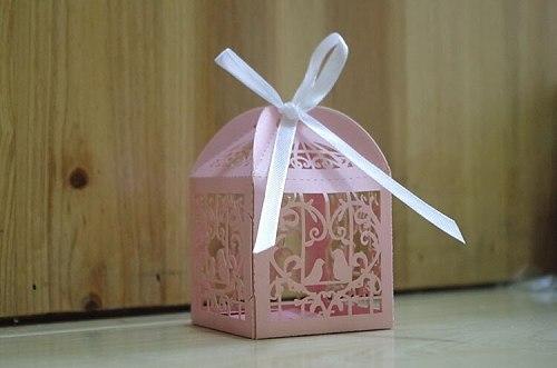 Laser Cut Wedding Sweets Love Bird Wedding Favor Candy Gifts Box 2000PCS