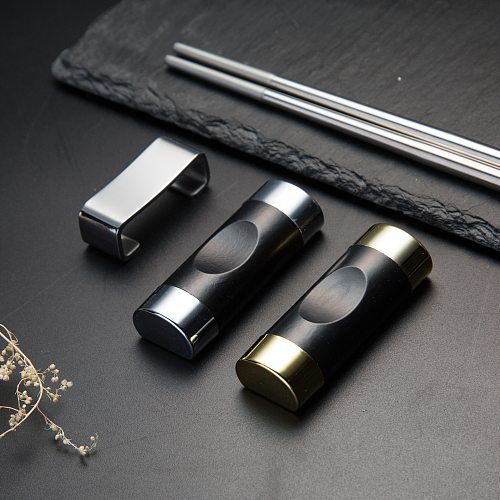 Stainless Steel Metal Chopstick Rest Suitable For Sushi Hash Food Stick Kitchen Tool Cherry Blossom