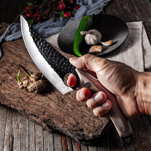 5.5  Meat Cleaver Hunting Knife Handmade Forged Boning Knife Serbian Chef Knife Stainless Steel Kitchen Knife Butcher Fish Knife