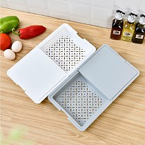 Multifunctional Cutting Board Strainer Fruit Vegetable Cutting Board Non-slip Chopping Boards Kitchen Home Tools Antibacterial