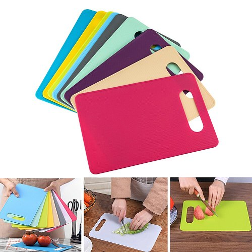 Nonslip Plastic Chopping Board Food Cutting Block Mat Tool Kitchen Cook Supplies Fruit and Vegetable Cutting Fashion