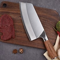 8inch Chinese Chef Knife Kitchen Knife Stainless Steel Meat Chopping Cleaver Slicing Vegetables