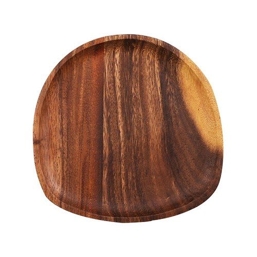 Creative Wood Irregular Oval Dinner Plate Lightweight Easy Cleaning Wood Pan 667A