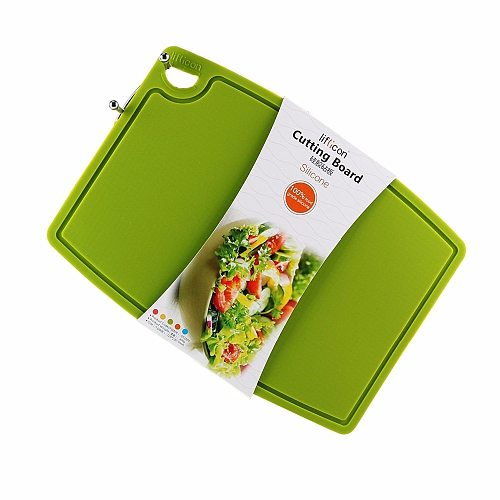 Liflicon Pure Silicone Cutting Boards Healthy Anti-microbial Cutting Mats Multifunctional Chopping Board Anti-skid Hang Hole