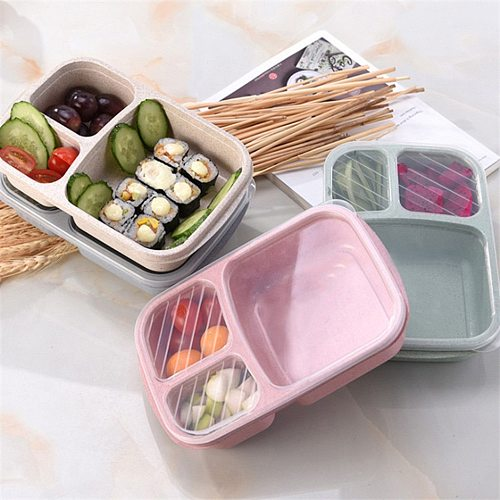 Silicone Collapsible Lunch Box Food Storage Container Bento Microwavable Portable Picnic Camping Rectangle Outdoor Box #TD