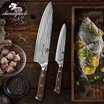 8'' 5'' Japanese Chef Knives Set VG10 Damascus Steel Utility Kitchen Knives Cleaver Slicing Chef Knife Set With Ironwood Handel