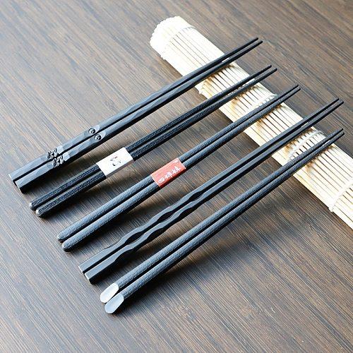 Japanese Chopsticks Fiberglass Alloy Non-Slip Sushi Food Sticks Chop Sticks Chinese Gift Reusable Chopsticks 1 Pair#1