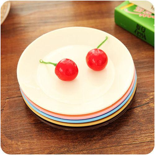 1pc Kitchen Dish Dessert Dinner Plate Dinnerware Tableware Shatterproof 13CM Dishes Plates