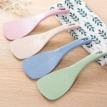 Hot 1PC Wheat Straw Rice Spoon Handle Rice Cooker Rice Shovel Kitchen Supplies Home Decoration Accessories U3
