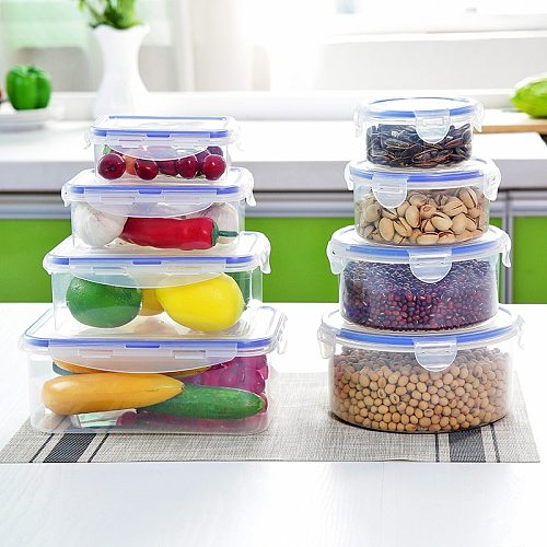 Plastic Lunch Box Portable Bowl Food Container Lunchbox  Eco-Friendly for Kitchen Accessories Bento Box  Food Storage MJ826