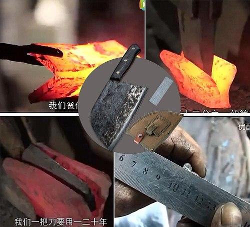 KKWOLF  butcher forged cleaver knife chefs knife profesional sashimi santoku japanese chef knife har case sunnecko kitchen steel