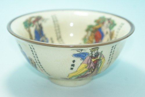 CHINESE FOLK ART Collection -- China old Painted porcelain bowl