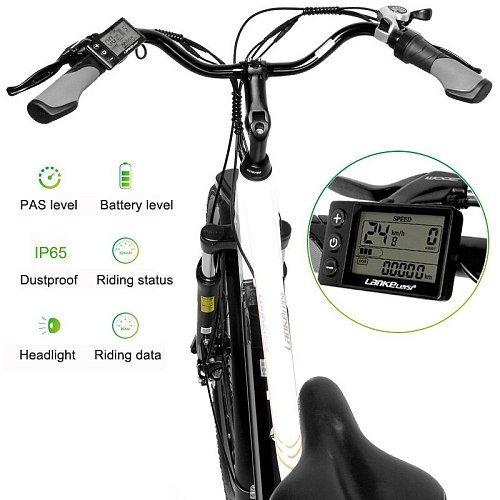 Pard3.0 26 Inch Electric bicycle, 300W City Bike, Oil Spring Suspension Fork, Pedal Assist Bicycle, Long Endurance