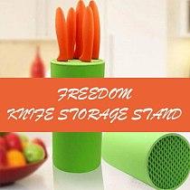 Universal Knife Block Plastic Freedom Knife Storage Stand Multifuntion Holder Kitchen utensils Knife Organizer Save Space