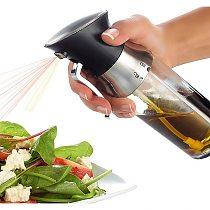 2-in-1 Oil Bottle Oil Sprayer Kitchen Supplies Kitchen Dosage Oil Sprayer Seasoning Mist Bottle Dispenser kitchen Tool Supplies