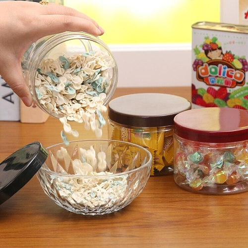Grain candy jar with transparent cover box kitchen accessories suikerpot plastic food containers