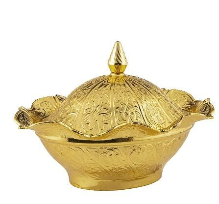 Sugar Bowl with Lid, Date, Delight, Chocolate Presentation Bowl