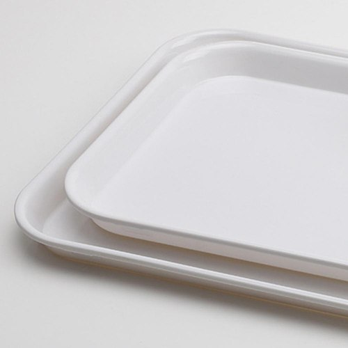 Miamine tray white plastic plate imitation porcelain guest room rectangular plate serving plate bread plate cake pastry plate