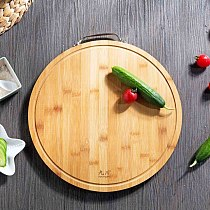 Kitchen Round Wood Cutting Board Thicken Bamboo Chopping Board Block Cutting Mat Pizza Sushi Bread Tray Kitchen Tools