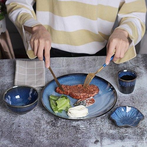 1Pcs NEW Nordic Ceramic Food Dish Plate Household Pottery Irregular Dish Salad Platter Dish  Wholesale Dinnerware