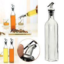 500ml 18oz Glass Olive Oil Vinegar Dispenser Gravy Boat Pourer Cooking Wine Condiment Storage Bottle Kitchen Cooking Tools