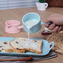 55ml/130ml Ceramics Milk Jugs Kitchen Cookware Coffee Jam Storage Cup Breakfast Bread Cream Container Mini Pot With Handle