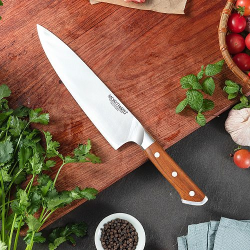 Japanese Kitchen Knives German 1.4116 Carbon Steel Chef Knife Sharp Santoku Boning Utility Fruit Knife Solid Rosewood Handle