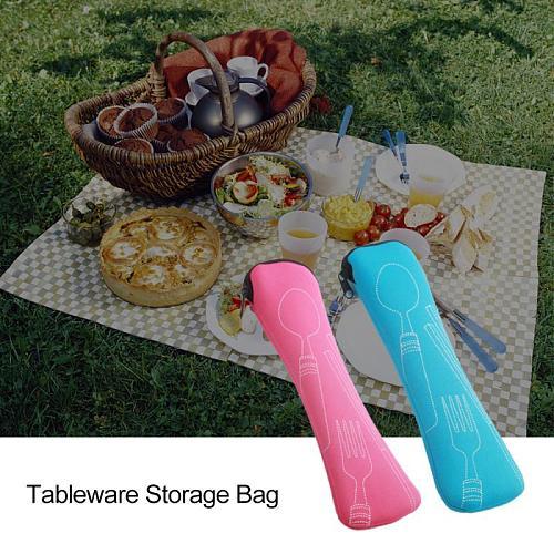 Portable Tableware bag cutlery bag Dinner Set Travel packaging storage box Dinnerware picnic fork spoon bag Dinnerware Sets
