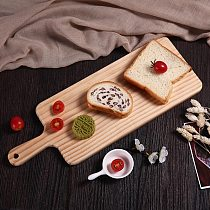 Kitchen Chopping Blocks Tool Japanese-Style Wooden Cake Bread  Chopping Board Solid with Handle Wood Tray Cutting Board