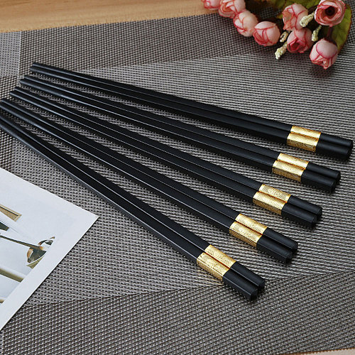 Chinese Style Chopsticks Alloy Chopsticks Restaurant Hot Pot Long Sushi Chopsticks Household Kitchen Utensils