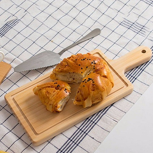 2 Size Natural Kitchen Chopping Blocks Bread Pallet With Handle Baking Cutting Board Wooden Board Handmade Kitchen Accessories