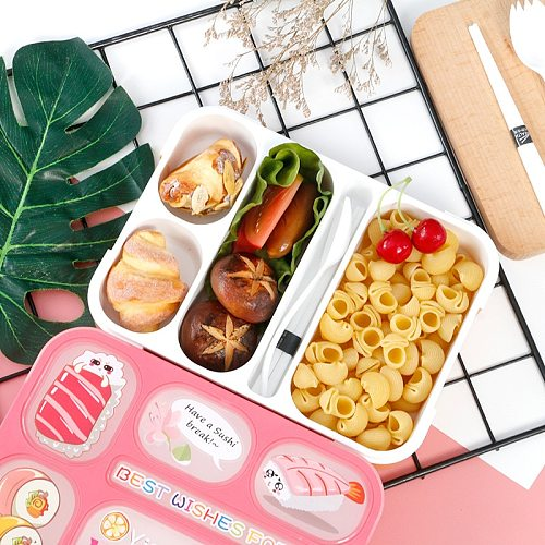 Child Lunch Box High Capacity Tableware Food Container Travel Hiking Camping Office School Leakproof Portable Bento Box MJ82708