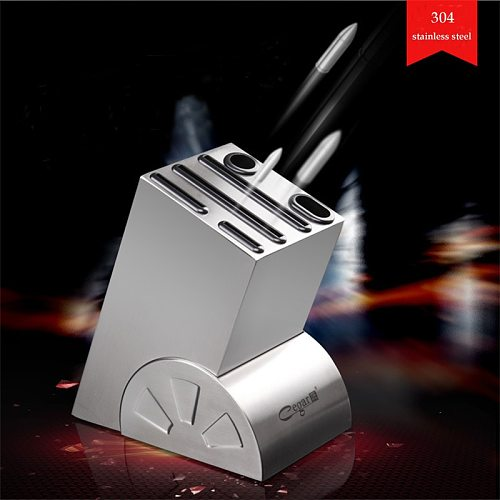 Cegar Kitchen Not Moldy Knife Stand Block 304 stainless Steel Knife Holder wheel Stand for Knives Easy to Clean Tool Holder