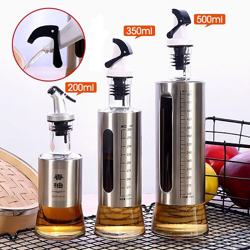 Kitchen Cooking Oil dispenser Pot Stainless Steel Automotive Oil Bottle for Olive/ Vinega Soy/ Saucer/Juice  Gravy Boats
